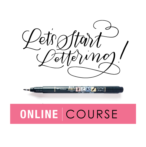 Let's Start Lettering Online Course | Amanda Arneill