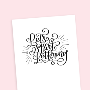 Learn brush lettering from amandaarneill.com