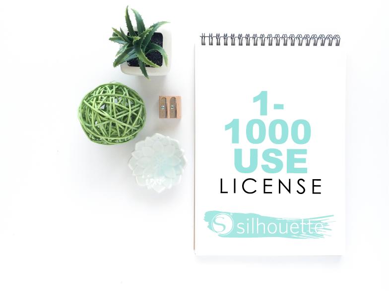 1-1000 use Silhouette License