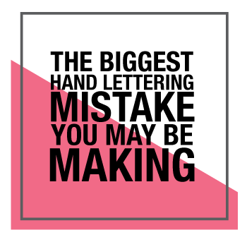 The Biggest Hand Lettering Mistake You May Be Making and How to Fix it!! | Amanda Arneill