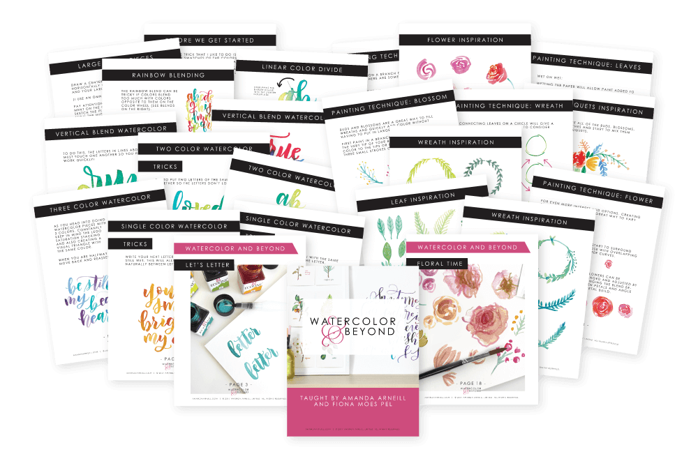 Watercolor and Beyond Worksheets