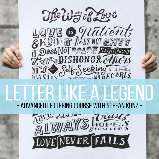 Learn how to letter like a legend with this advanced online lettering course taught by Stefan Kunz at amandaarneill.com