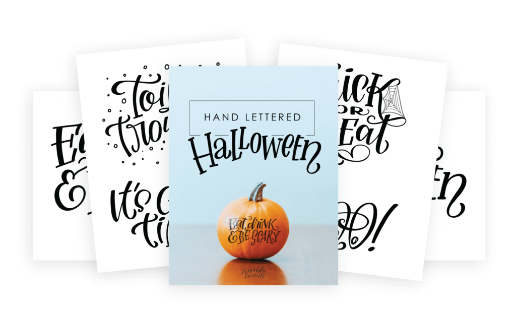 Hand Lettered Halloween Pumpkin Tracer Package Preview