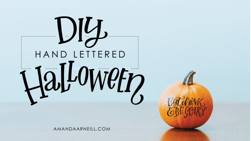 DIY Hand Lettered Halloween Tutorial Image