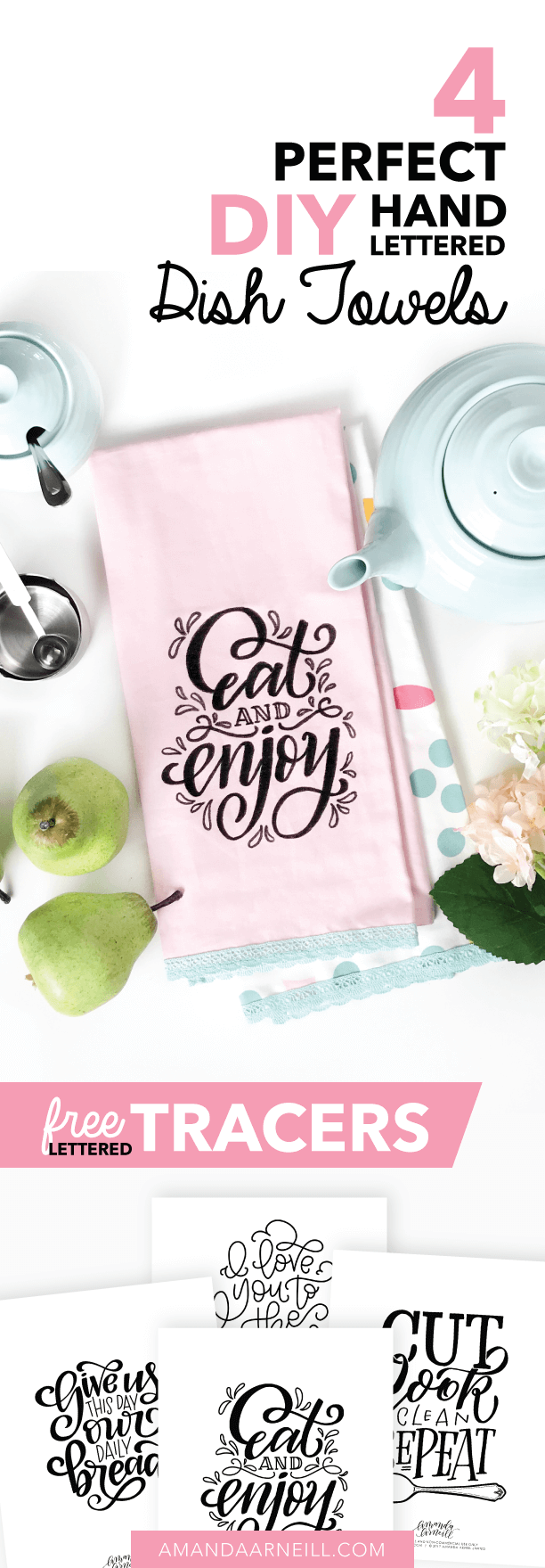graphic regarding Printable Towels referred to as 4 Great Do-it-yourself Hand Lettered Dish Towels with Absolutely free Lettered