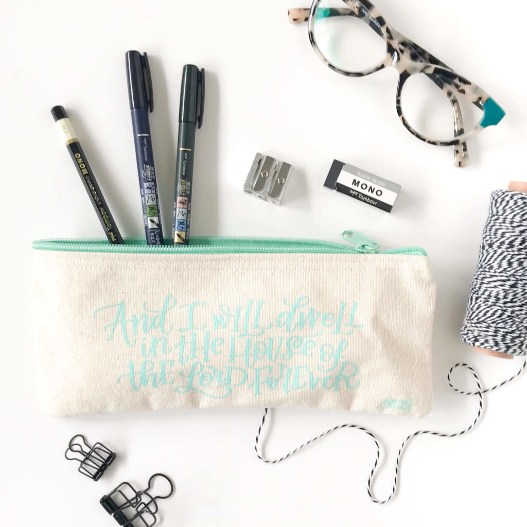 Church Lettering Pencil Case by Amanda Arneill