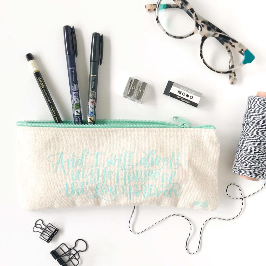 Church Lettering Pencil Case by Amanda Arneill