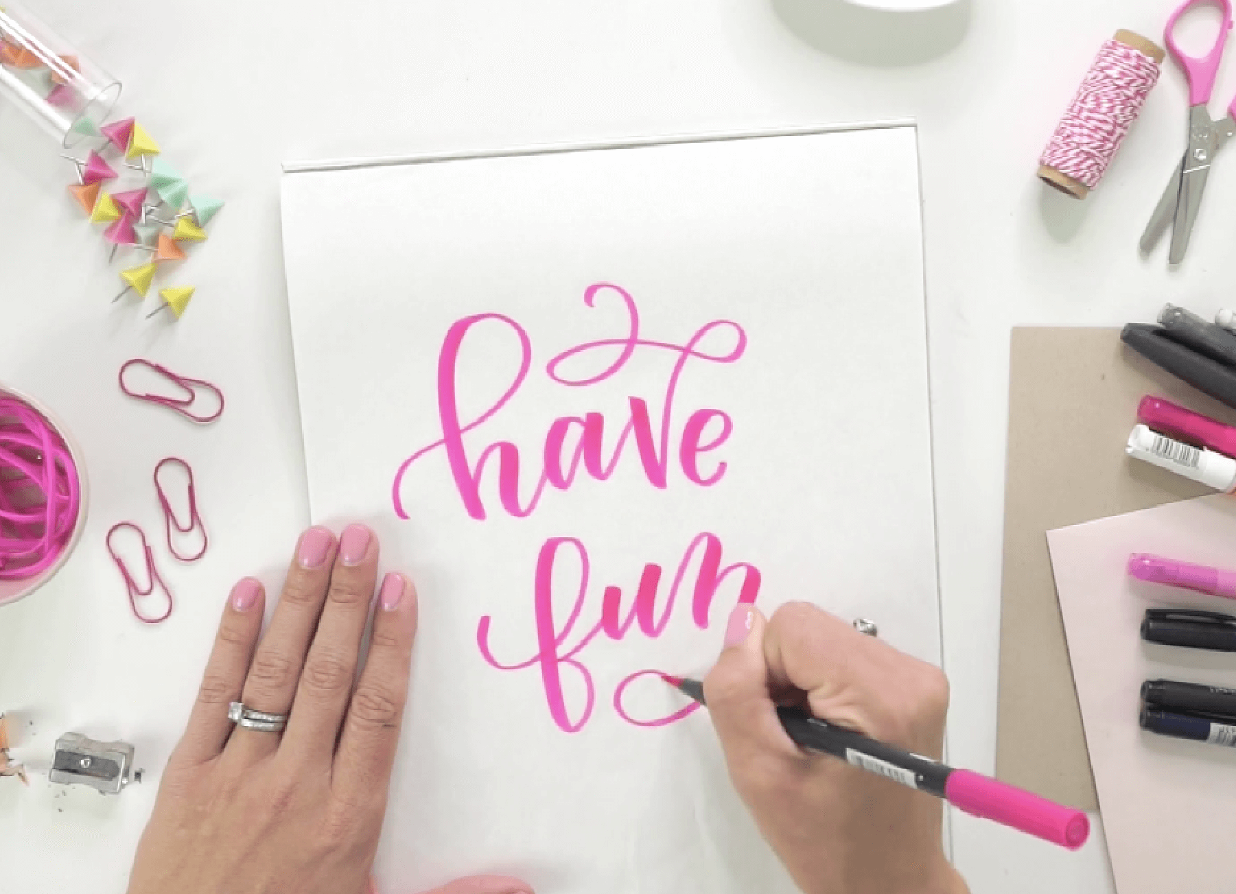 Learn how to hand letter and create your own hand lettered masterpieces with this online video course from Amanda Arneill at amandaarneill.com