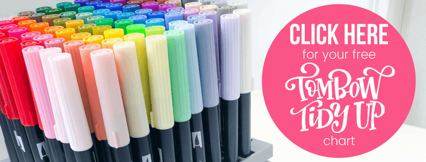 Organize your Tombow Dual Brush Pen 96 Color Set with this free printable template from Amanda Arneill of amandaarneill.com