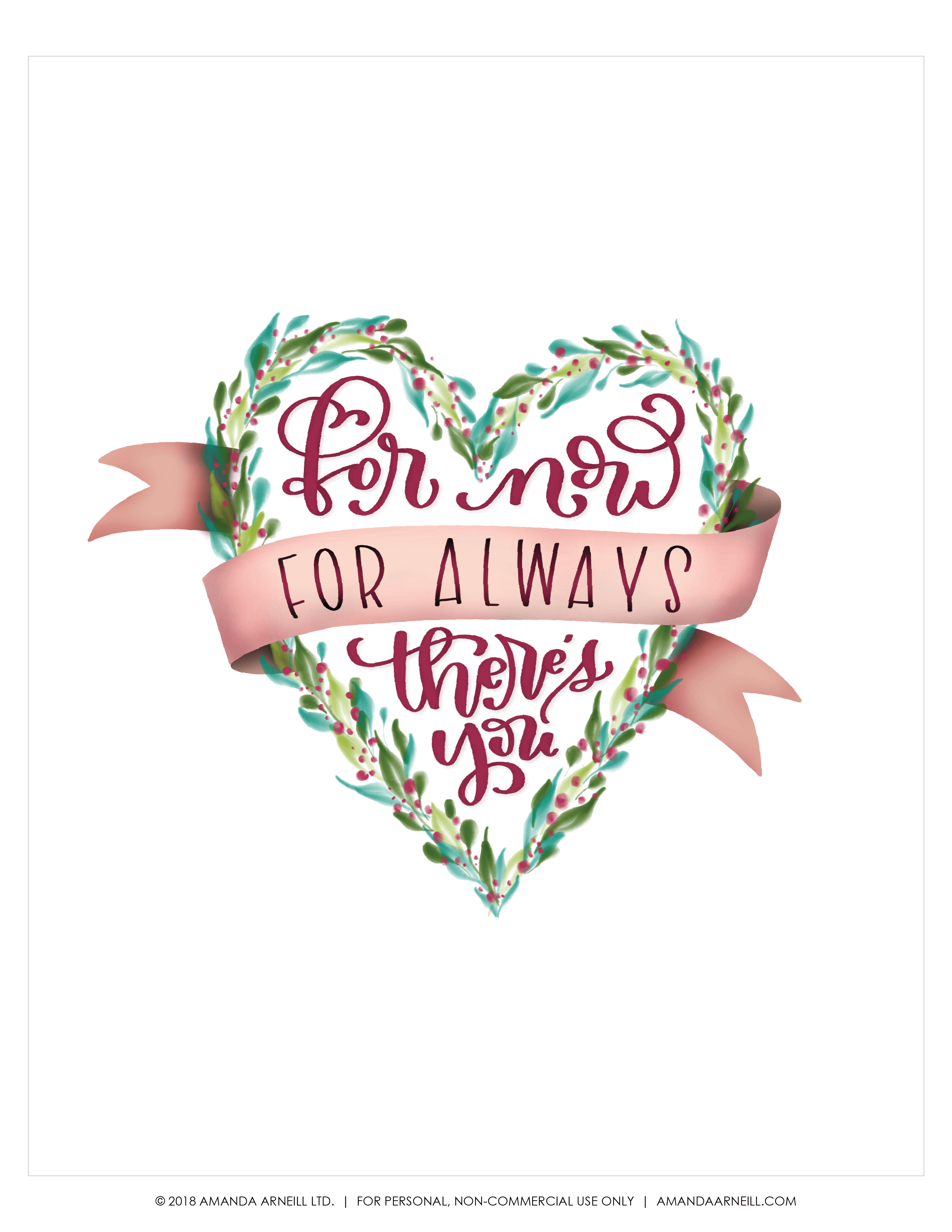 A Free Hand Lettered Mothers Day Printable For You