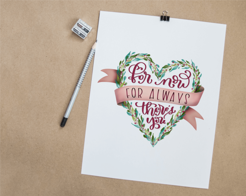A Free Mother's Day hand lettered printable from Amanda Arneill of amandaarneill.com Available in greeting card, 5x7 and 8x10 formats.