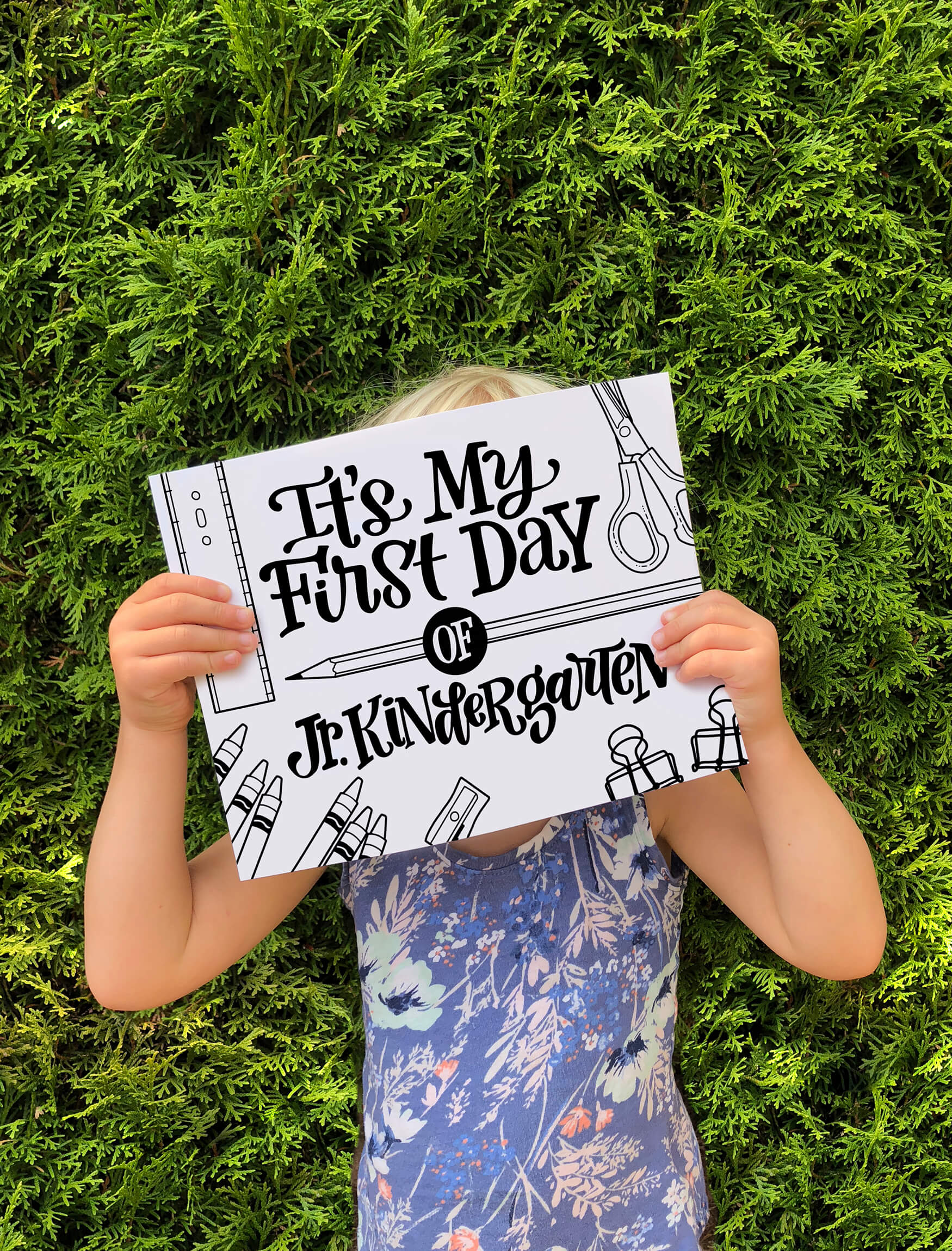 "Get your free, downloadable, hand lettered ""It's my first day of school"" with a variety of ""first"" options from amandaarneill.com"