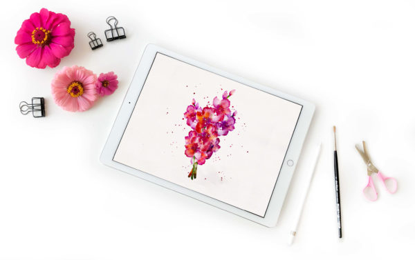 Learn how to create realistic watercolor pieces all using just your iPad and Apple Pencil with this intermediate level, online course with Amanda Arneill and Karin Newport at amandaarneill.com