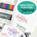 Learn how to create beautifully blended letters with the new colored Tombow Fudenosuke brush pens in this free tutorial from Amanda Arneill on amandaarneill.com