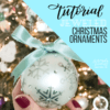 Learn how to create and bejewel your own, personalized, hand lettered Christmas ornaments with this free video tutorial and fully linked supply list from Amanda Arneill of amandaarneill.com