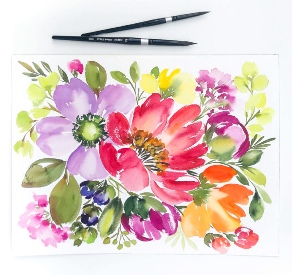 Learn how to quickly create breathtaking watercolor floral compositions in this online, self-paced, beginner-friendly course taught by Jeannie Dickson and Amanda Arneill.